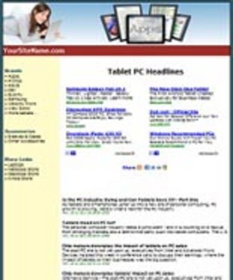 Product picture Tablets Website